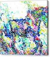Horse Painting.33 Canvas Print