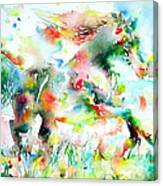 Horse Painting.36 Canvas Print