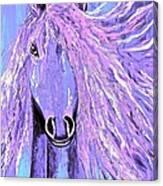Horse Pale Purple 2 Canvas Print