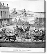 Horse Racing, C1869 Canvas Print