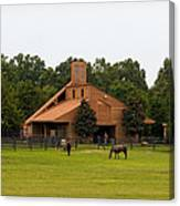 Horse Stables 2 Canvas Print