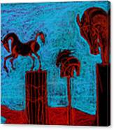 Horse Totems Canvas Print