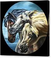 Horse Trio Canvas Print