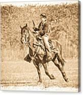 Horseback Soldier Canvas Print
