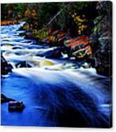 Horserace Rapids In Autumn Canvas Print