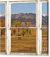 Horses And Autumn Colorado Front Range Picture Window View Canvas Print