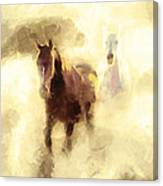 Horses Of The Mist Canvas Print