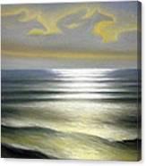 Horses Over Sea Canvas Print
