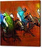 Horses Racing 01 Canvas Print