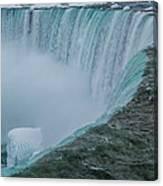 Horseshoe Falls Ice Formations Canvas Print