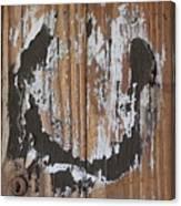 Horseshoe Print Wood Canvas Print