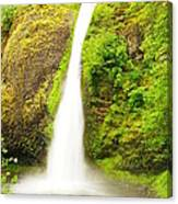 Horsetail Falls In The Spring Canvas Print