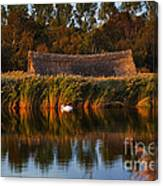 Horsey Mere On The Norfolk Broads On A Still Day In Autumn Canvas Print