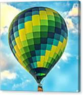 Hot Air Balloon Checkerboard Canvas Print