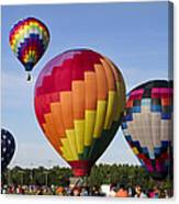 Hot Air Balloon Festival In Decatur Alabama  Canvas Print
