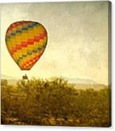Hot Air Balloon Flight Over The Southwest Desert Fine Art Print  Canvas Print