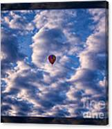 Hot Air Balloon In A Cloudy Sky Abstract Photograph Canvas Print