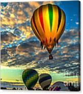 Hot Air Balloon Lift Off Canvas Print