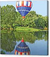 Hot Air Balloon Reflection Canvas Print