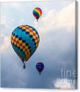 Hot Air Balloon Trio Canvas Print
