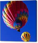 Hot Air Ballooning Together Canvas Print