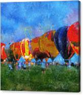 Hot Air Balloons Photo Art 01 Canvas Print