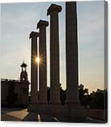 Hot Barcelona Afternoon - Magnificent Columns And Brilliant Sun Flares Canvas Print