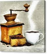 Hot Black Coffee Canvas Print