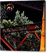 Hot Bridge At Night Canvas Print