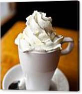 Hot Chocolate With Creme Chantilly Canvas Print