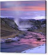 Hot Creek At Sunset Sierra Nevada Canvas Print