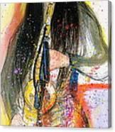 Hot Jazz Lady Canvas Print