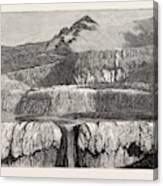 Hot Lakes Of New Zealand The Tattooed Basin Canvas Print