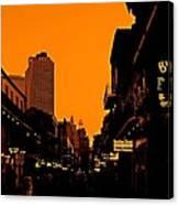 Hot Nights On Bourbon Street Canvas Print