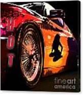 Hot Red Car Canvas Print