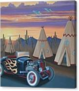 Hot Rod At The Wigwams Canvas Print