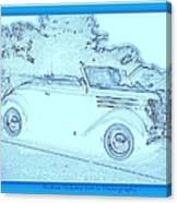 Hot Rod Digi Sketch Canvas Print