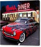 Hot Rod Diner Classic  Canvas Print