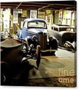 Hot Rod Garage Canvas Print
