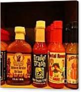 Hot Sauce Display Shelf Three Canvas Print