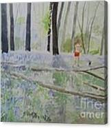 Hot Spring Bluebell Jogger Canvas Print