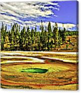 Prismatic Geyser Yellowstone National Park Canvas Print