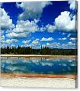 Hot Springs And Clouds Canvas Print
