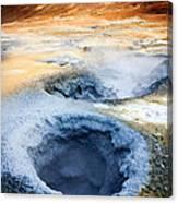 Hot Springs At Namaskard In Iceland Canvas Print