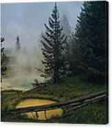 Hot Springs At West Thumb Canvas Print