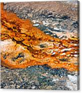 Hot Springs Mineral Flow Canvas Print