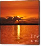 Hot Summer Sunrise  Canvas Print