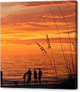 Hot Sunset Canvas Print