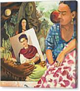 Hot Ticket Frida Kahlo Meta Portrait Canvas Print