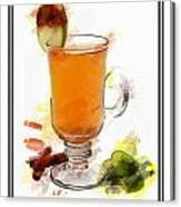 Hot Toddy Cocktail Marker Sketch Canvas Print